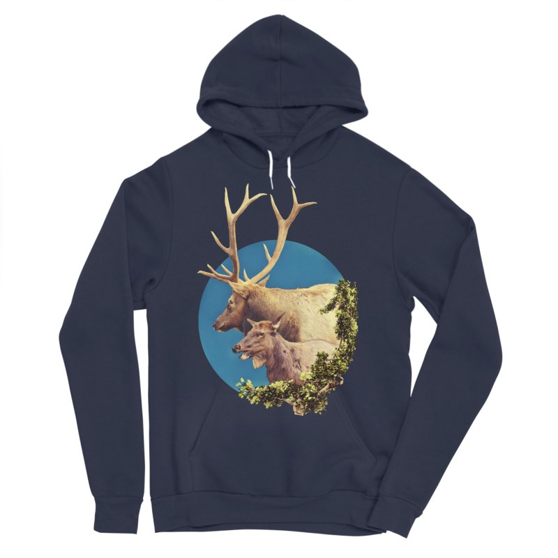 The Stag and the Hind Men's Sponge Fleece Pullover Hoody by Of The Wild by Kimberly J Tilley