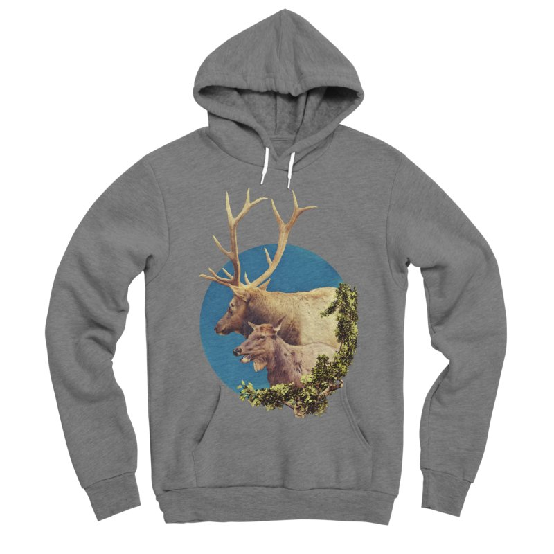 The Stag and the Hind Women's Sponge Fleece Pullover Hoody by Of The Wild by Kimberly J Tilley