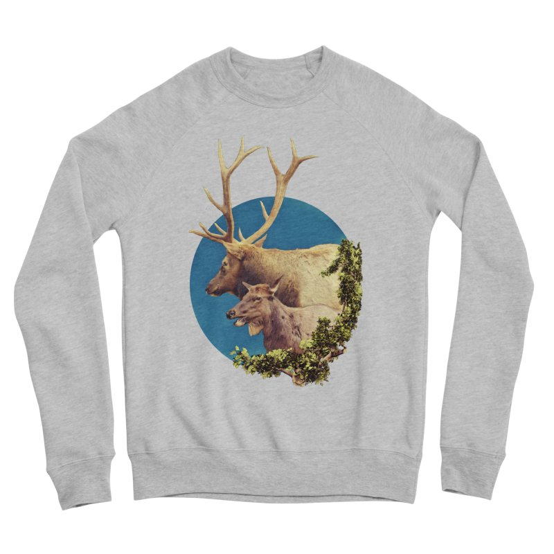 The Stag and the Hind Men's Sponge Fleece Sweatshirt by Of The Wild by Kimberly J Tilley