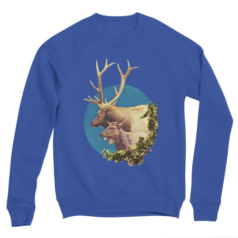 The Stag and the Hind Women's Sponge Fleece Sweatshirt by Of The Wild by Kimberly J Tilley