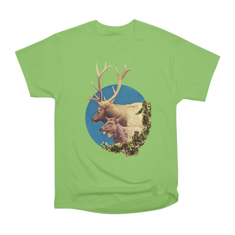 The Stag and the Hind Women's Heavyweight Unisex T-Shirt by Of The Wild by Kimberly J Tilley