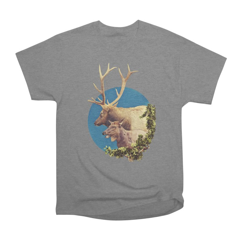 The Stag and the Hind Men's Heavyweight T-Shirt by Of The Wild by Kimberly J Tilley