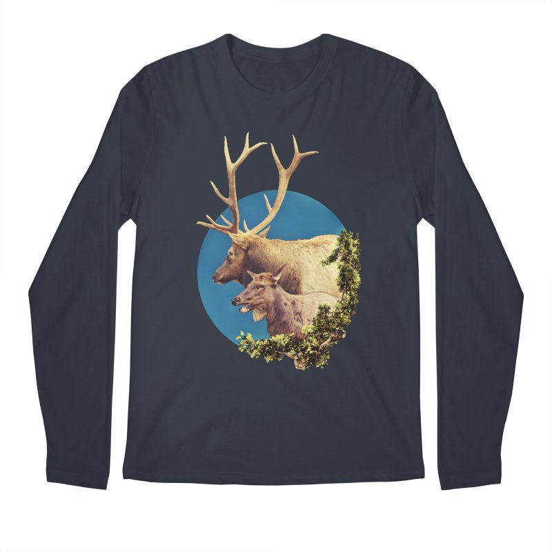 The Stag and the Hind Men's Regular Longsleeve T-Shirt by Of The Wild by Kimberly J Tilley