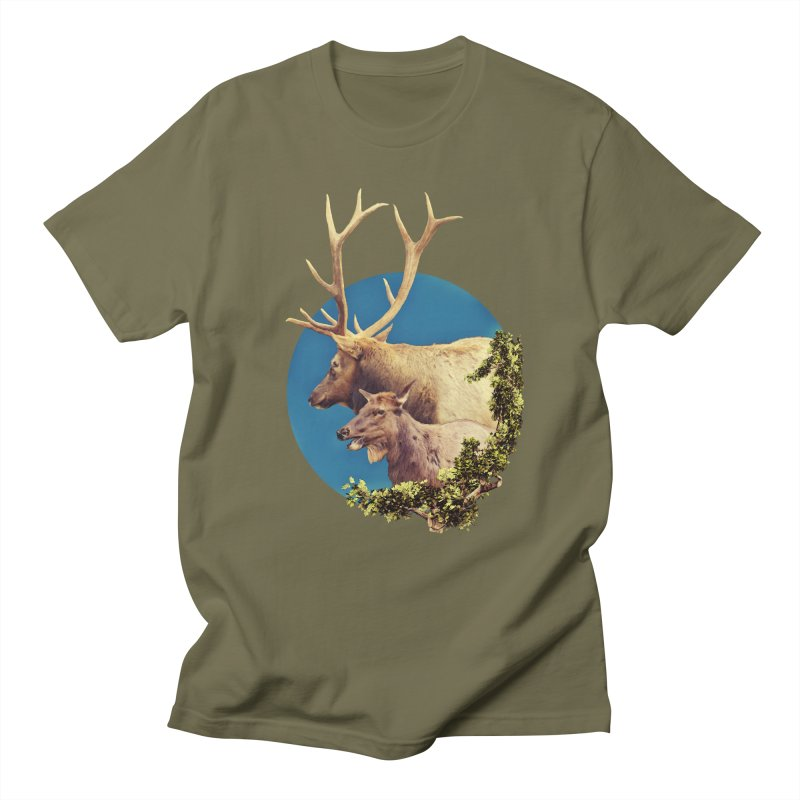 The Stag and the Hind Men's Regular T-Shirt by Of The Wild by Kimberly J Tilley