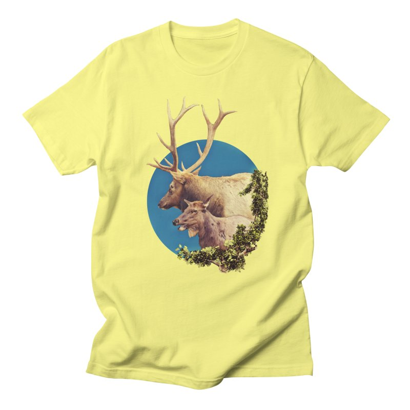 The Stag and the Hind Women's Regular Unisex T-Shirt by Of The Wild by Kimberly J Tilley