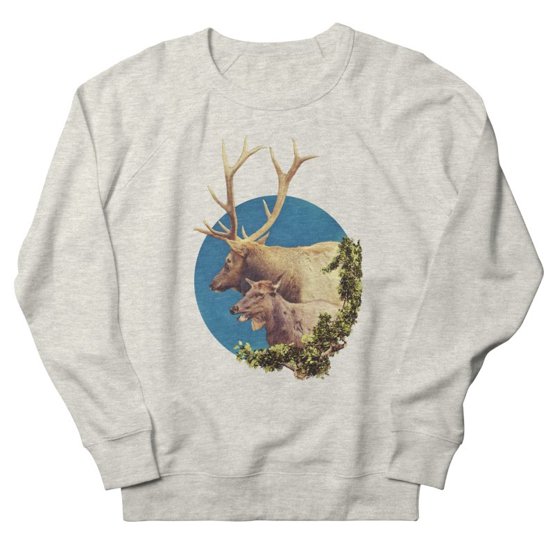 The Stag and the Hind Women's French Terry Sweatshirt by Of The Wild by Kimberly J Tilley