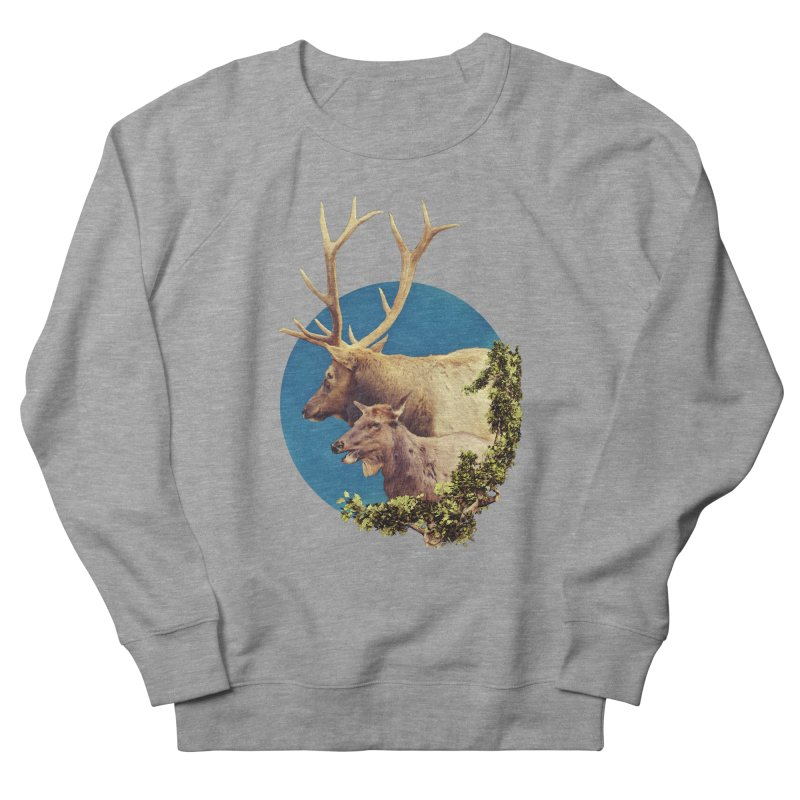 The Stag and the Hind Men's French Terry Sweatshirt by Of The Wild by Kimberly J Tilley