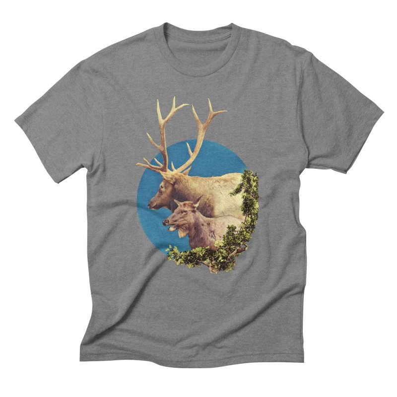 The Stag and the Hind Men's Triblend T-Shirt by Of The Wild by Kimberly J Tilley