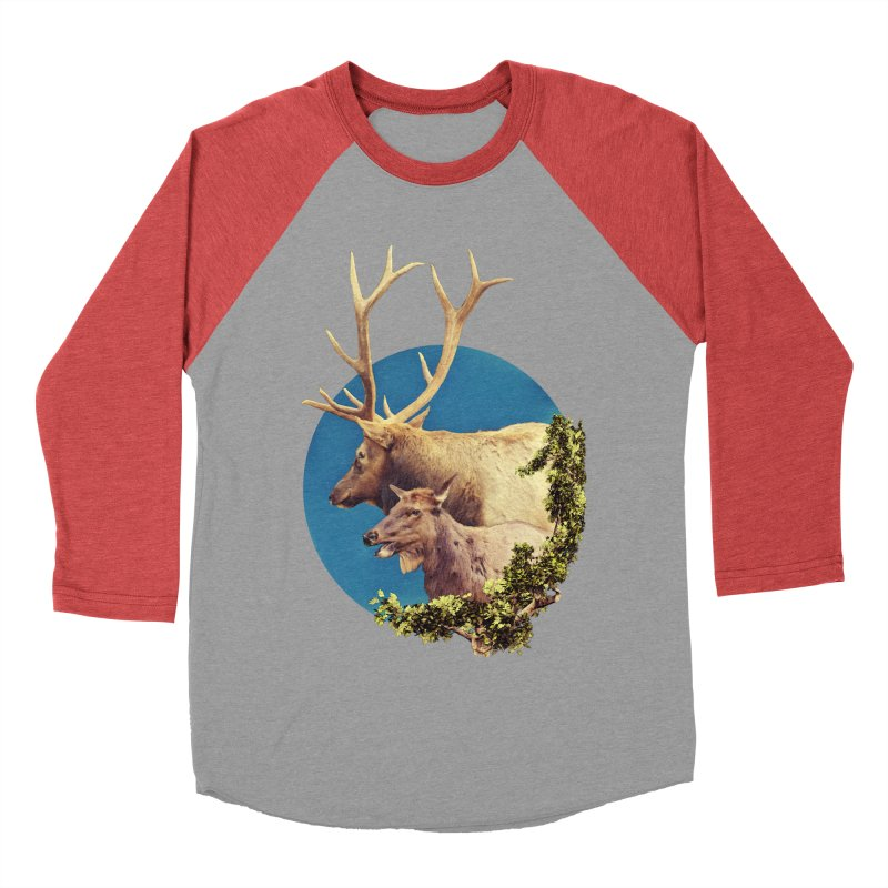 The Stag and the Hind Women's Baseball Triblend Longsleeve T-Shirt by Of The Wild by Kimberly J Tilley