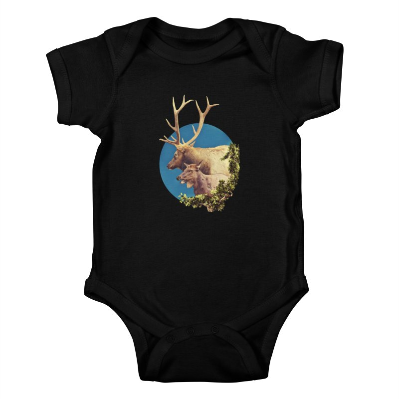 The Stag and the Hind Kids Baby Bodysuit by Of The Wild by Kimberly J Tilley