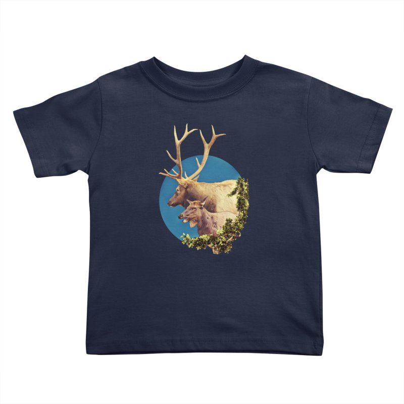 The Stag and the Hind Kids Toddler T-Shirt by Of The Wild by Kimberly J Tilley