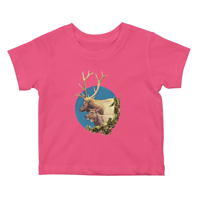 The Stag and the Hind Kids Baby T-Shirt by Of The Wild by Kimberly J Tilley