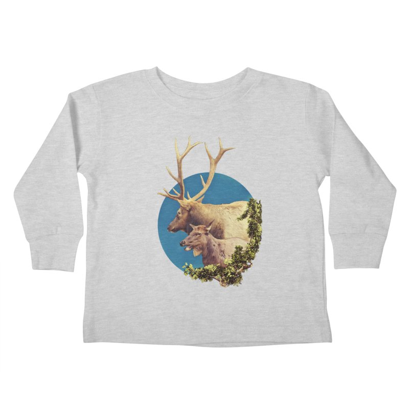 The Stag and the Hind Kids Toddler Longsleeve T-Shirt by Of The Wild by Kimberly J Tilley