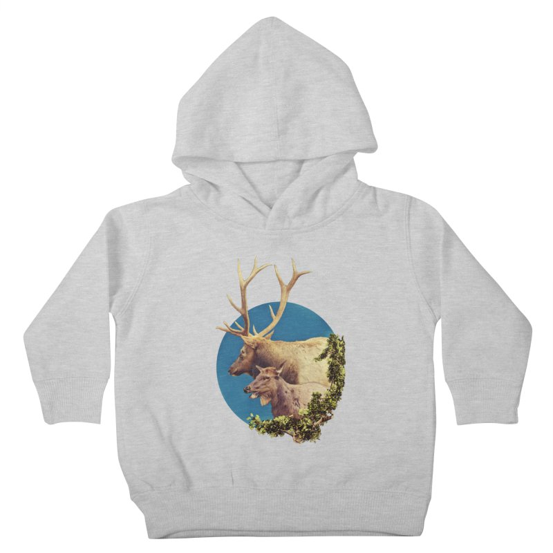The Stag and the Hind Kids Toddler Pullover Hoody by Of The Wild by Kimberly J Tilley