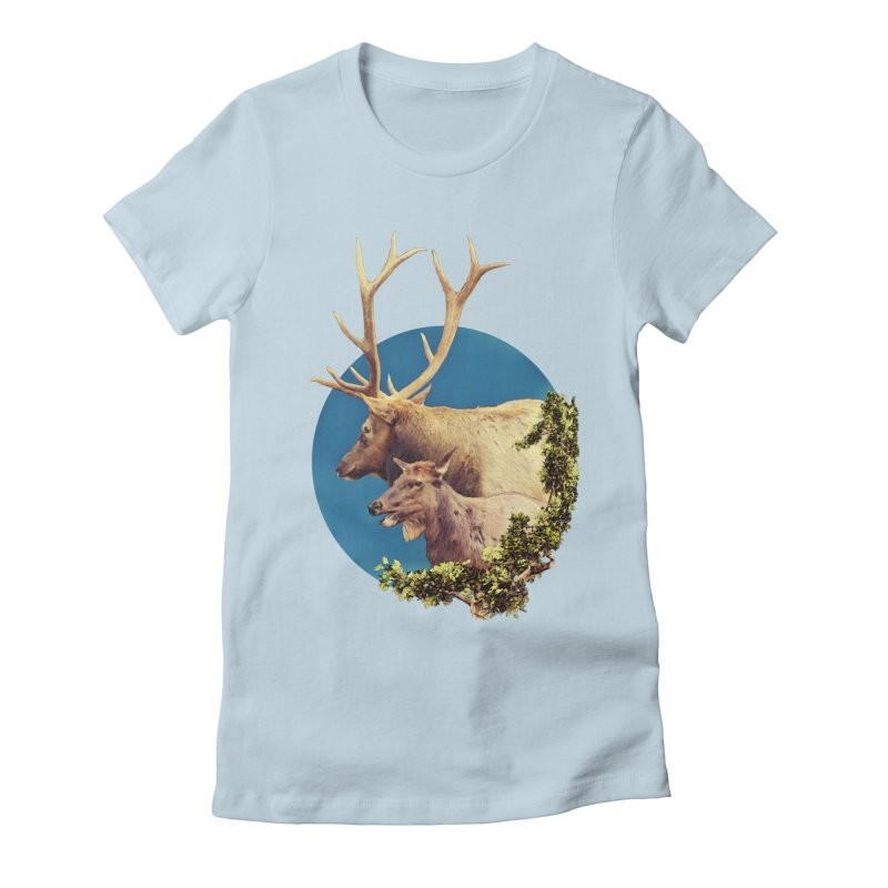 The Stag and the Hind Women's Fitted T-Shirt by Of The Wild by Kimberly J Tilley