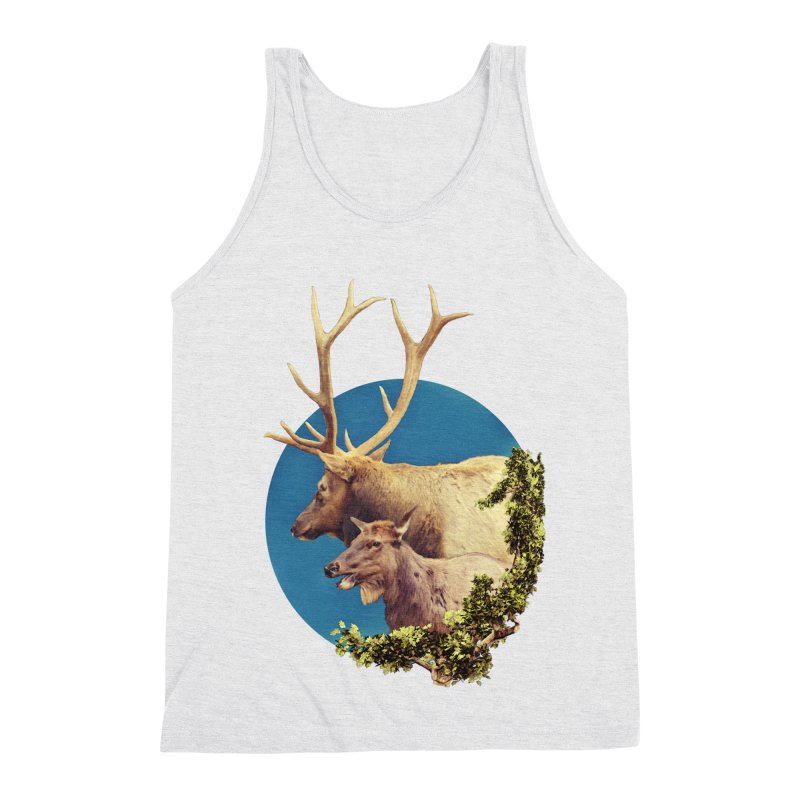 The Stag and the Hind Men's Triblend Tank by Of The Wild by Kimberly J Tilley