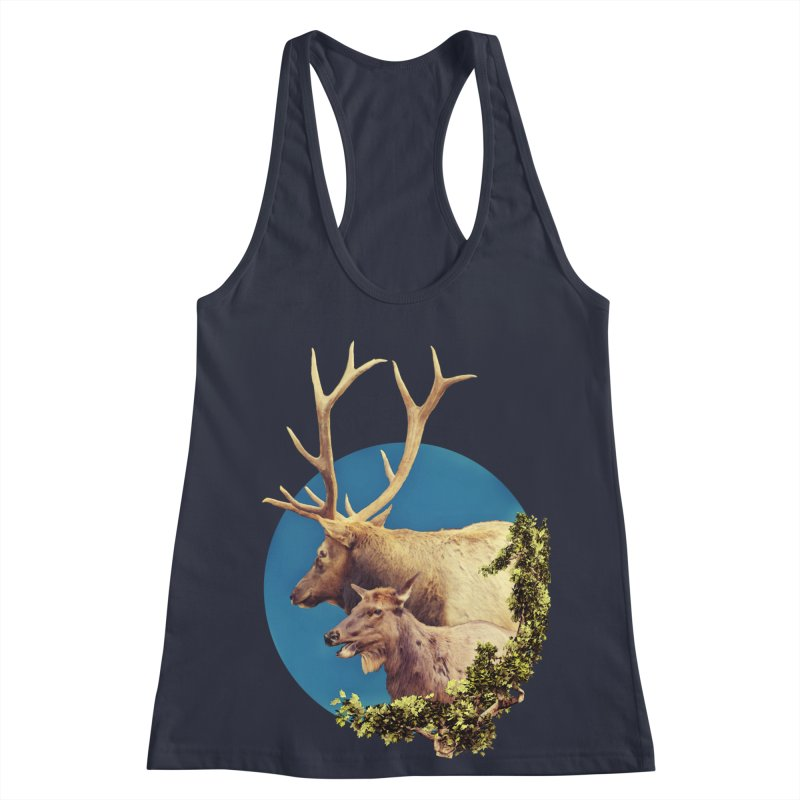 The Stag and the Hind Women's Racerback Tank by Of The Wild by Kimberly J Tilley