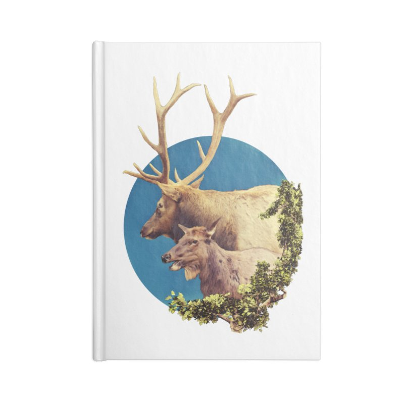 The Stag and the Hind Accessories Blank Journal Notebook by Of The Wild by Kimberly J Tilley