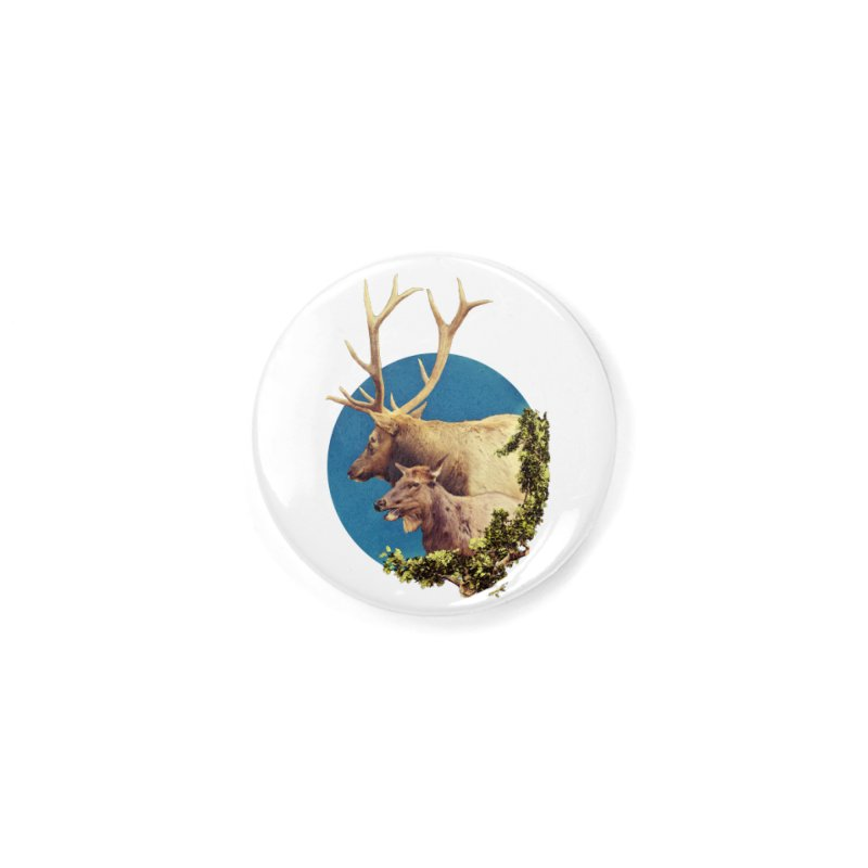 The Stag and the Hind Accessories Button by Of The Wild by Kimberly J Tilley