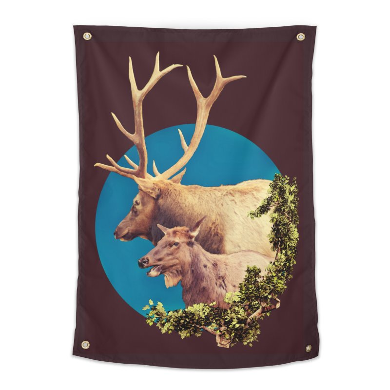 The Stag and the Hind Home Tapestry by Of The Wild by Kimberly J Tilley