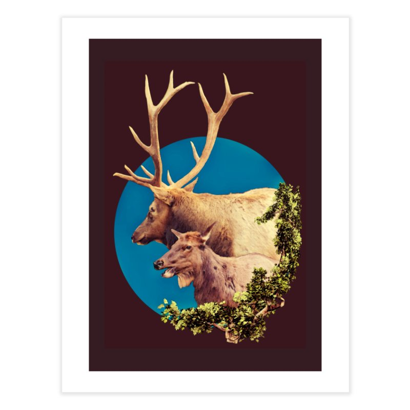 The Stag and the Hind Home Fine Art Print by Of The Wild by Kimberly J Tilley