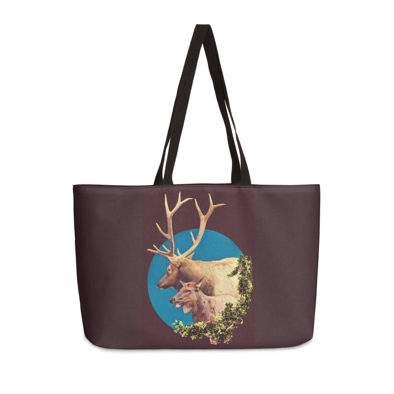 The Stag and the Hind Accessories Weekender Bag Bag by Of The Wild by Kimberly J Tilley