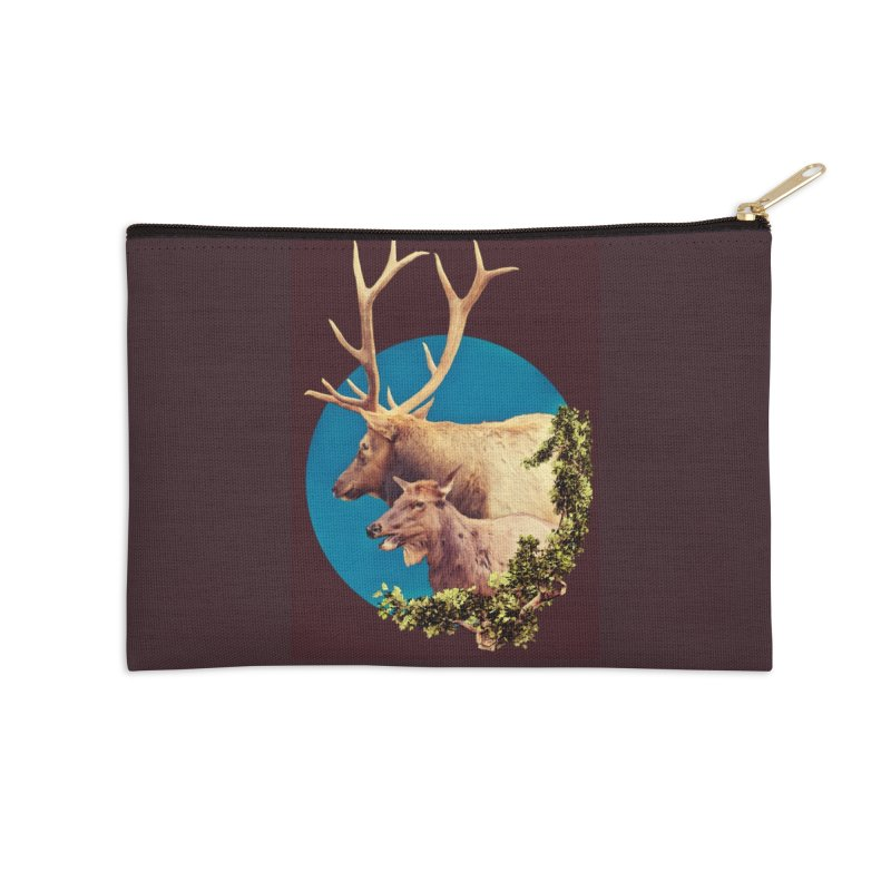 The Stag and the Hind Accessories Zip Pouch by Of The Wild by Kimberly J Tilley