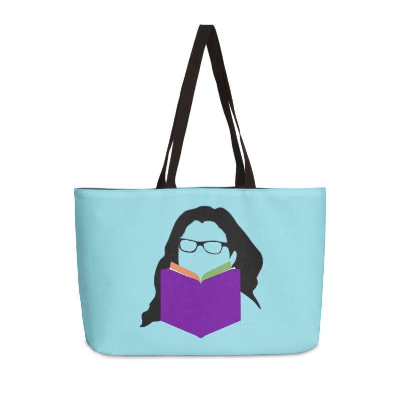 Kim B Musing - Bookworm in Weekender Bag by Kim B Musing's Artist Shop