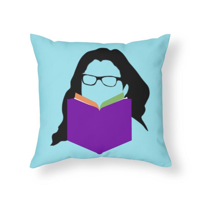 Kim B Musing - Bookworm in Throw Pillow by Kim B Musing's Artist Shop
