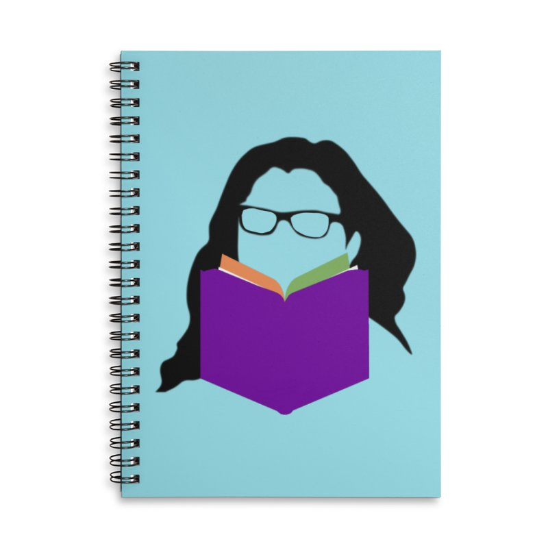 Kim B Musing - Bookworm in Lined Spiral Notebook by Kim B Musing's Artist Shop