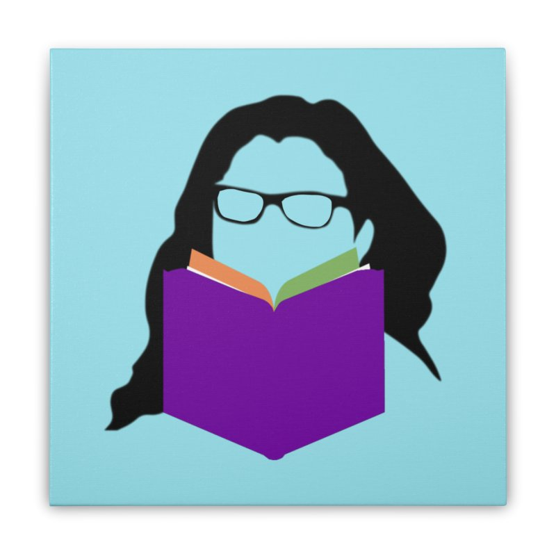 Kim B Musing - Bookworm Home Stretched Canvas by Kim B Musing's Artist Shop