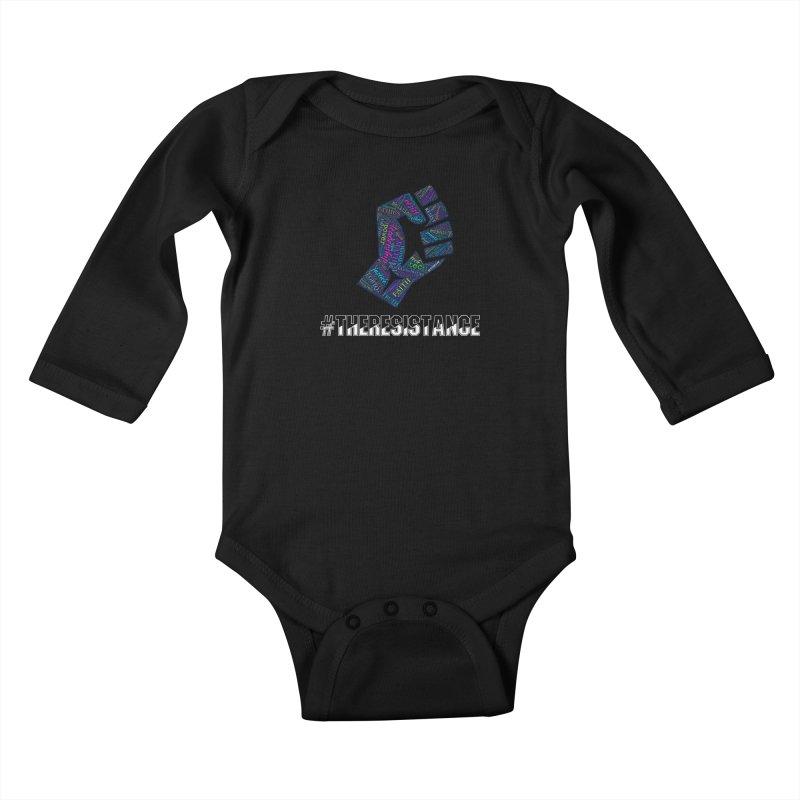 The Resistance Kids Baby Longsleeve Bodysuit by Kim B Musing's Artist Shop