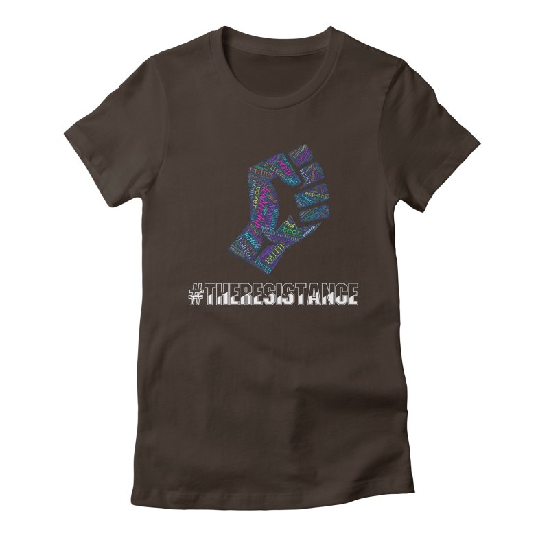 The Resistance Women's Fitted T-Shirt by Kim B Musing's Artist Shop