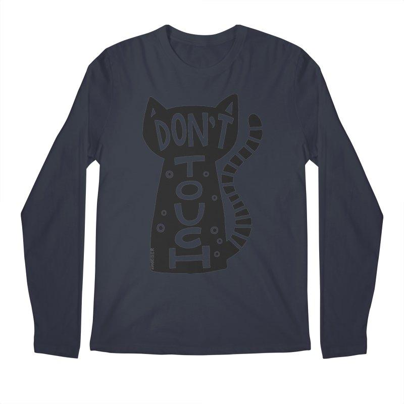Don't Touch Me Men's Regular Longsleeve T-Shirt by kimgeiserstudios's Artist Shop
