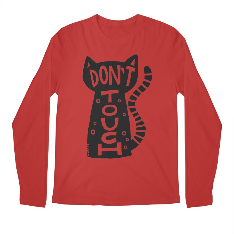 Don't Touch Me Men's Regular Longsleeve T-Shirt by kimgeiserstudios's Artist Shop