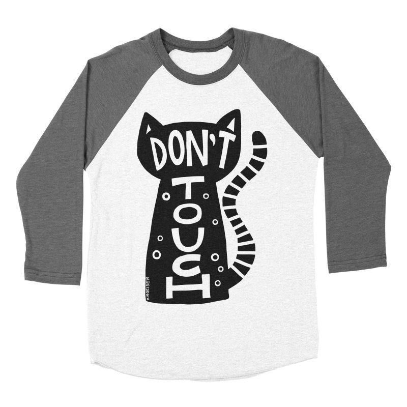 Don't Touch Me Men's Baseball Triblend Longsleeve T-Shirt by kimgeiserstudios's Artist Shop