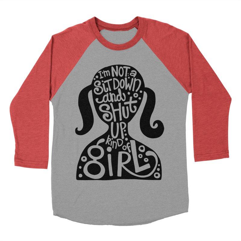 Kind of girl Men's Baseball Triblend Longsleeve T-Shirt by kimgeiserstudios's Artist Shop