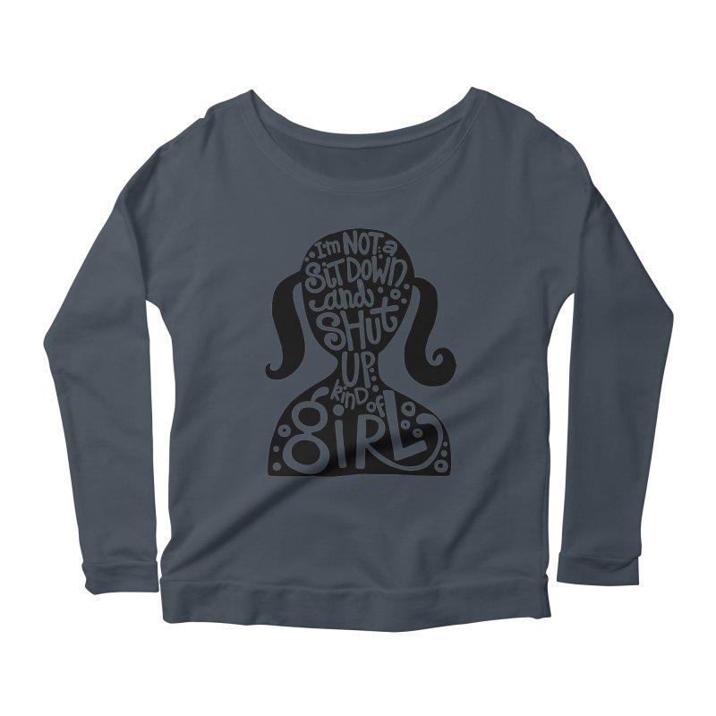 Kind of girl Women's Scoop Neck Longsleeve T-Shirt by kimgeiserstudios's Artist Shop