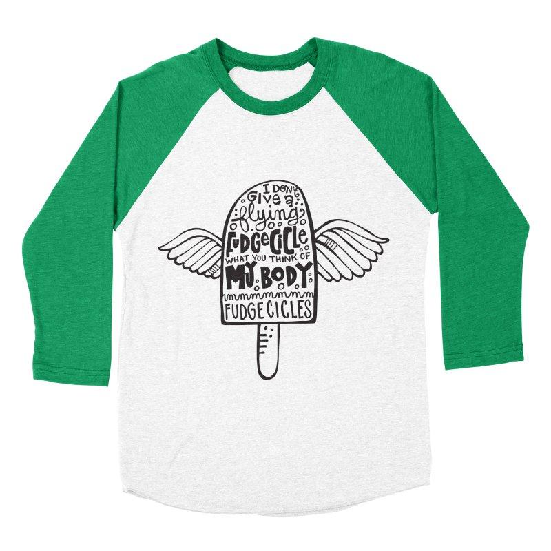 mmmm fudgecicles Men's Baseball Triblend T-Shirt by kimgeiserstudios's Artist Shop