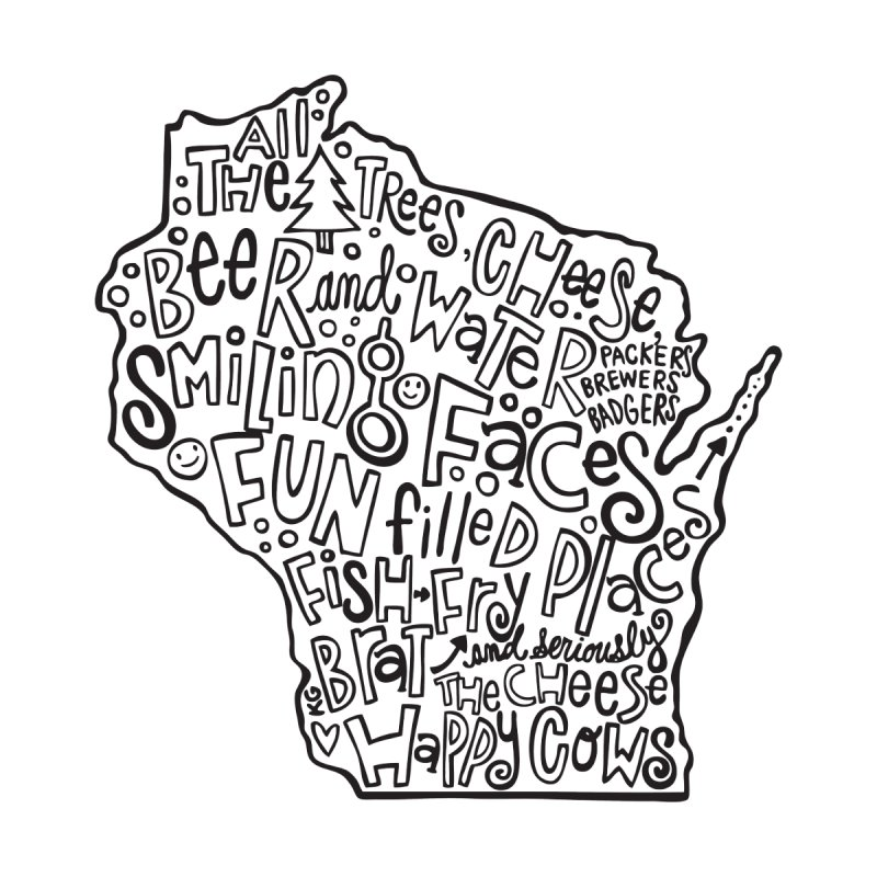 Wisconsin Kids T-Shirt by kimgeiserstudios's Artist Shop