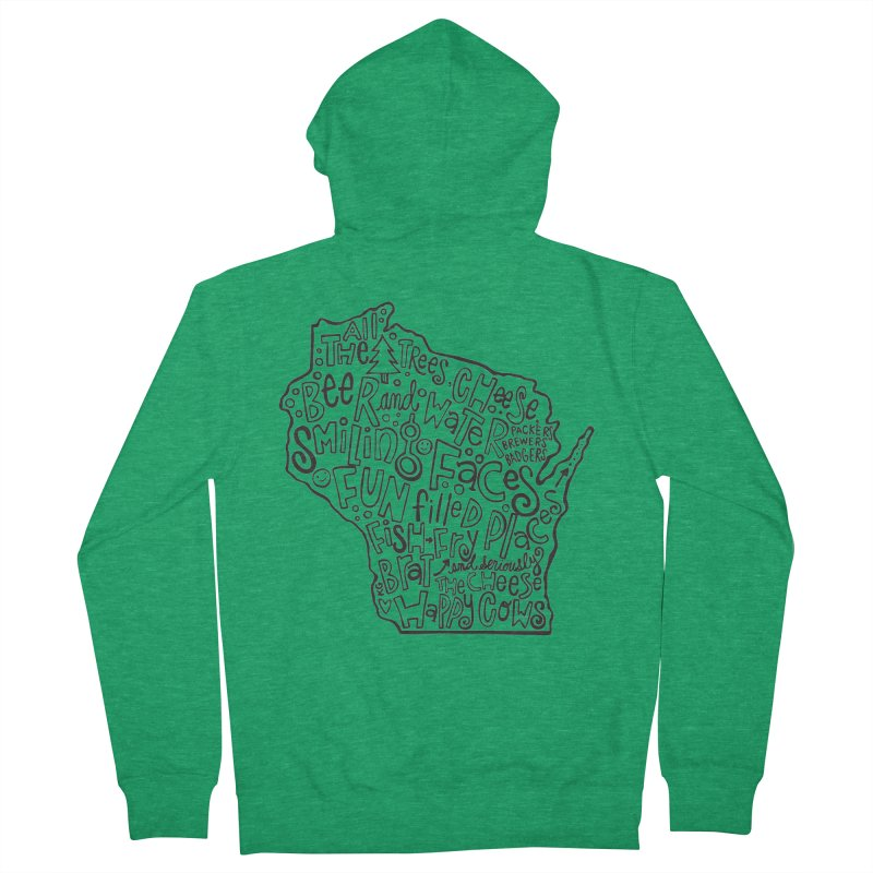 Wisconsin Women's Zip-Up Hoody by kimgeiserstudios's Artist Shop