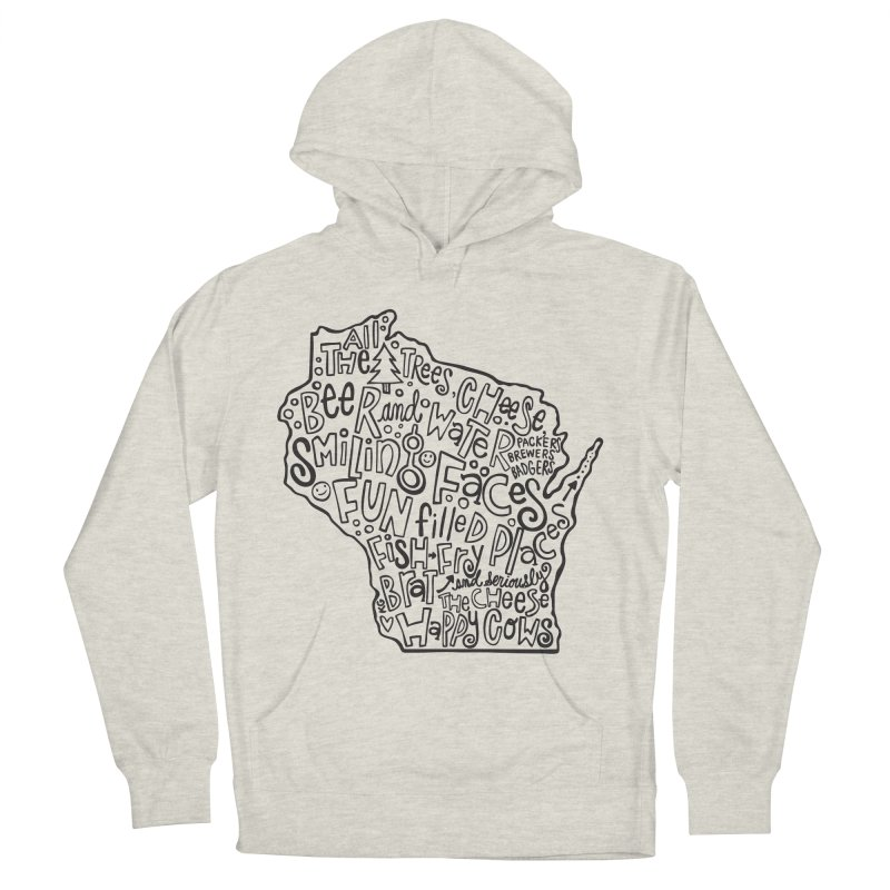 Wisconsin Men's French Terry Pullover Hoody by kimgeiserstudios's Artist Shop