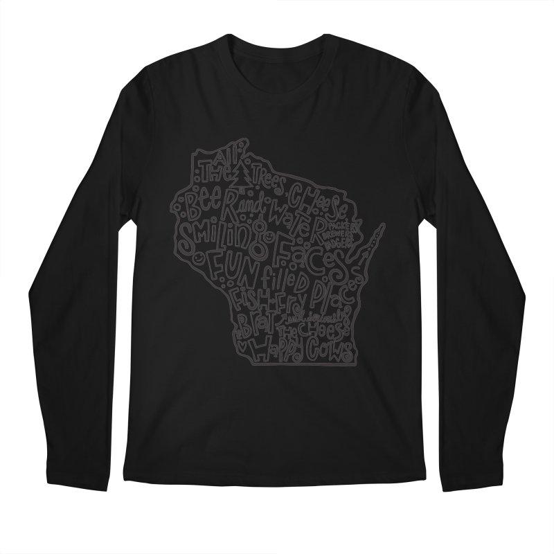 Wisconsin Men's Longsleeve T-Shirt by kimgeiserstudios's Artist Shop