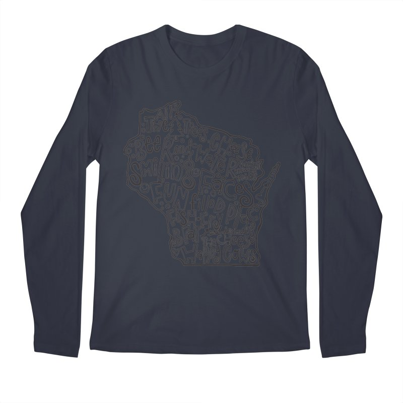Wisconsin Men's Regular Longsleeve T-Shirt by kimgeiserstudios's Artist Shop