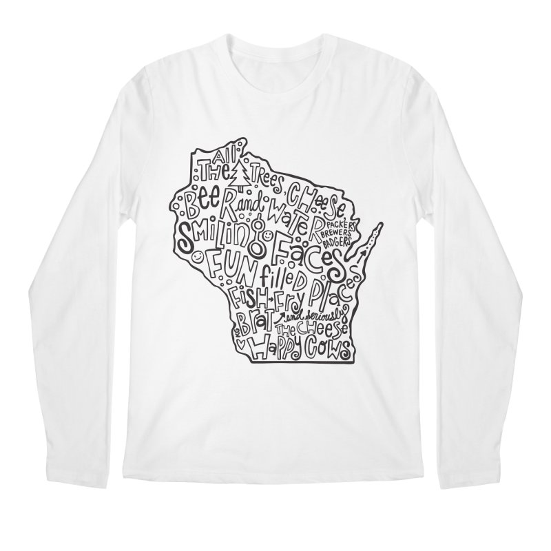 Wisconsin Men's Longsleeve T-Shirt by kimgeiserstudios's Artist Shop