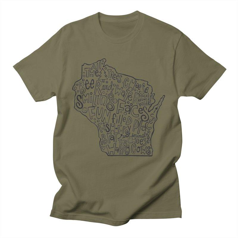 Wisconsin Men's T-Shirt by kimgeiserstudios's Artist Shop