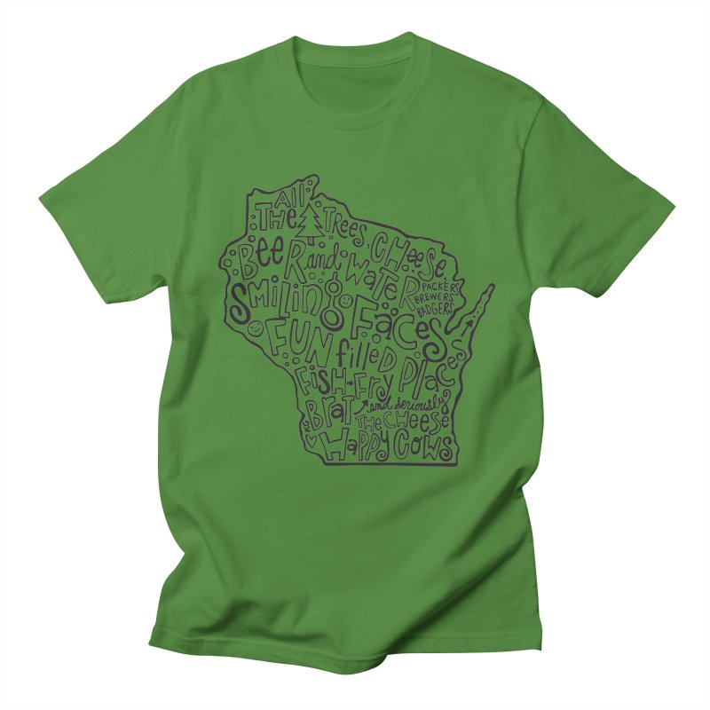 Wisconsin Men's Regular T-Shirt by kimgeiserstudios's Artist Shop