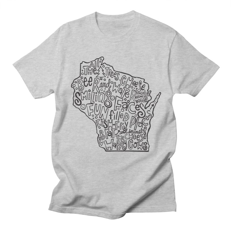 Wisconsin Men's T-Shirt by kimgeiserstudios's Artist Shop