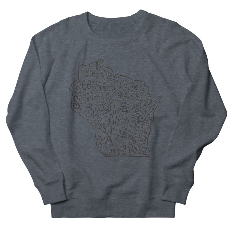 Wisconsin Men's French Terry Sweatshirt by kimgeiserstudios's Artist Shop
