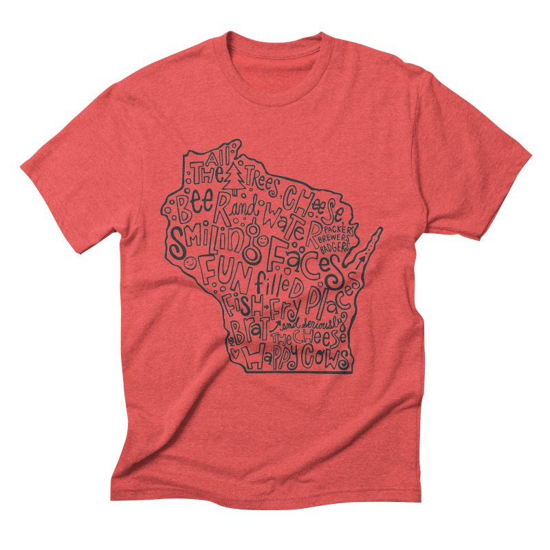 Wisconsin Men's Triblend T-Shirt by kimgeiserstudios's Artist Shop